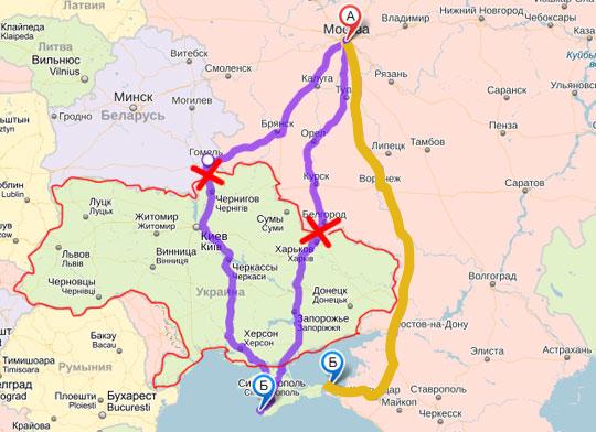 Автоперевозки Москва Крым